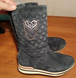 чоботи замша