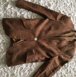 Продам костюм льняной красивого коричневого цвета