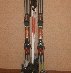Αλπικό σκι + μπαστούνια + μπότες