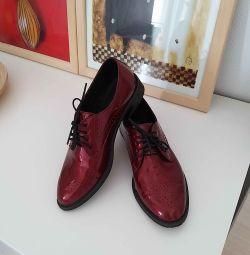 Pantofi, 37 rr, piele autentică