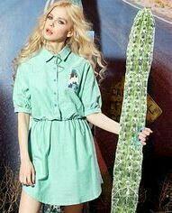 Mint Rochie Safari Shirt