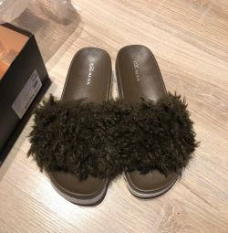 Papuci alba