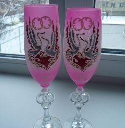 Γυαλιά γάμου, ροζ.