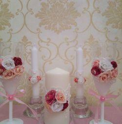 Свадебные аксессуары, свечи в г. Егорьевск