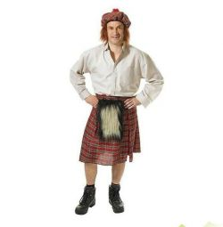 Scotsman Karnavalı kostüm yeni
