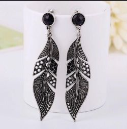 Earrings Feathers