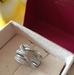 ring silver cubic zirconias