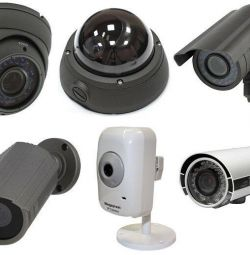 Waterproof cameras on the street night lights