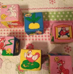 Παιδικά κύβοι - ψίχουλα 6 τεμάχια - σετ