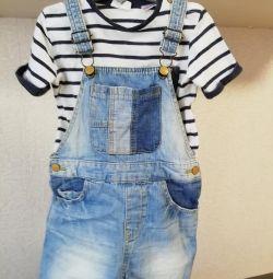 Zara костюм футболка і комбінезон