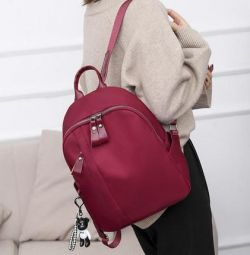 Kadınlar için çanta sırt çantası, kumaş lüks kırmızı yeni
