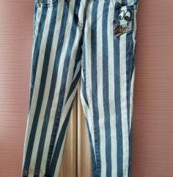 Striped children's jeans