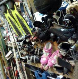 Skis, skates in stock