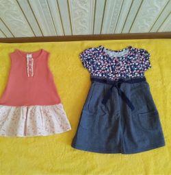 Dresses 2 pcs. and skirts