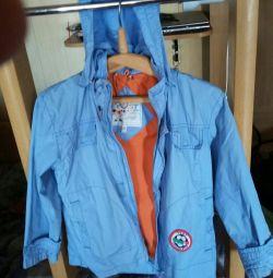 Jacheta pentru parbriz pe un băiat