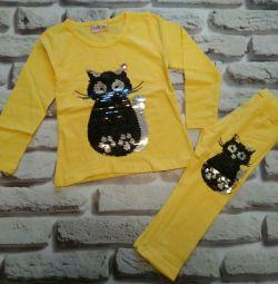 Set tricotaje cu paiete-schimba culoarea