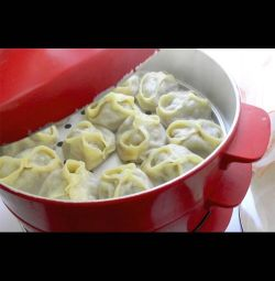 Homemade dumplings and manti hand-made from 1 kg.
