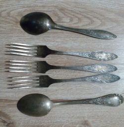 Furculițe argint nichel