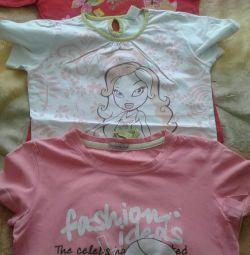 Tricouri pentru o înălțime a fetei 128-134