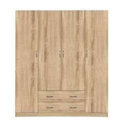 WARDROBE 4 WIRE DOUBLE CU 2 DRAWERI 200X180X55.5cm HM353