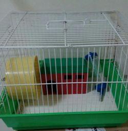 Celula pentru hamster utilizată.