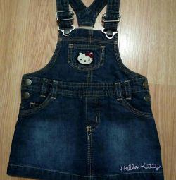 Sundress jeans Hello Kitty