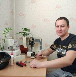 Moskova'da dikiş makinelerinin tamiri