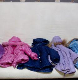 4 ila 8 yaşındaki kızlar için ceketler