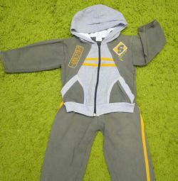 Sports suit with fleece