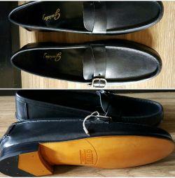 Ανδρικά παπούτσια Ιταλία nat.kozha