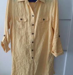 φόρεμα-πουλόβερ r.4-48, πουκάμισο γκρι r.4
