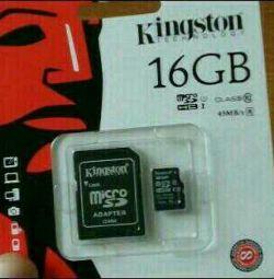 Κάρτα μνήμης Kingston 16 GB