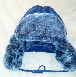 Детская зимняя шапка 3-7 лет