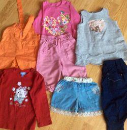 Летняя одежда пакетом на 2-3 года