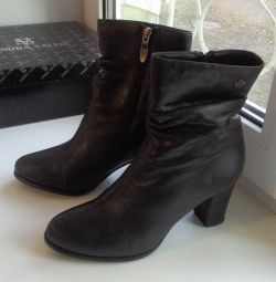 Leather boots 38 size
