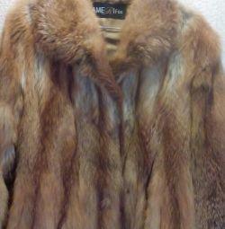 Γούνα τρίχωμα Fox γούνα παλτό 48-50 rb