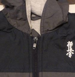 Vest warmed with a hood unisex 34 kyokushin