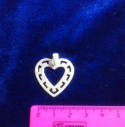 inimioare pandantive și alte argintii