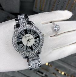 Ceas și inel în stoc 🌸🌸🌸