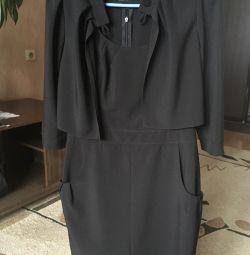 Rochie de haina cu bolero (sacou decupat)
