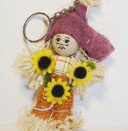 Keychain Straw Doll