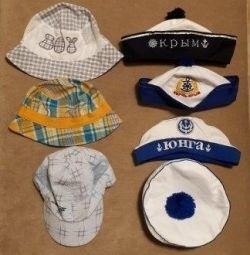 Baseball caps, Panamas, hats