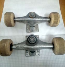 Skate rollers with mount, 2 sets, used,