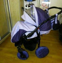 Stroller 2 in 1 (Indigo) + autobody Geburt