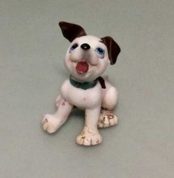 Toy - statuette: dog. Exchange.
