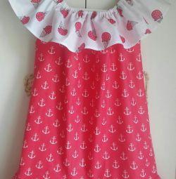 Платье -сарафан на девочку 4-6 лет