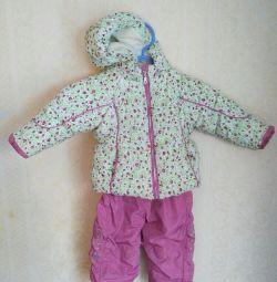 Παιδικό κοστούμι. Το φθινόπωρο είναι το χειμώνα. Μέγεθος 74-80