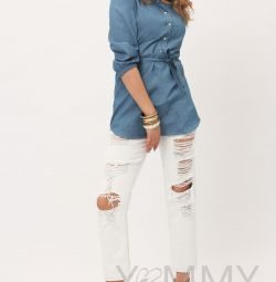 Shirt denim pentru îngrijire și YMammy gravidă