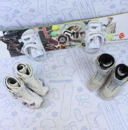 Сноуборд Atom (НОВЫЙ) 156 см + крепления + ботинки