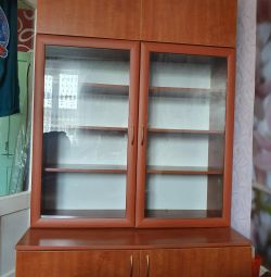 Bookcase with departments for linen
